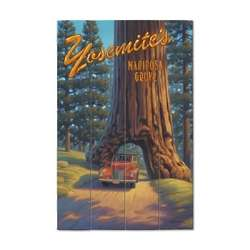 Yosemite Mariposa Wood Plank Sign