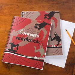 Skateboard Personalized School Notebook