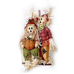 Scarecrow Couple Fall Yard Ornaments
