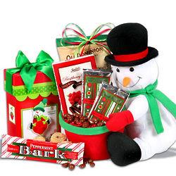 Snowman's Festive Favorites Gift Basket