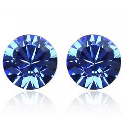 Blue Swarovski Elements Crystal Stud Earrings