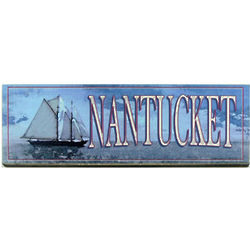 Nantucket Blue Sky and Sailing Ship Sign