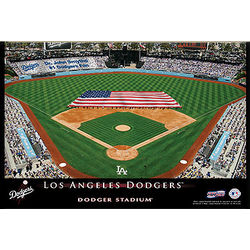 Personalized 12x18 Los Angeles Dodgers Stadium Canvas