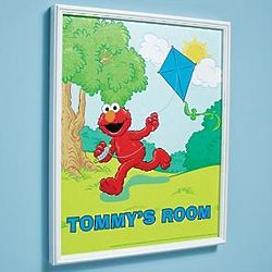 Personalized Elmo Canvas Print