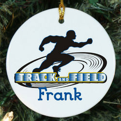 Track and Field Personalized Ceramic Ornament
