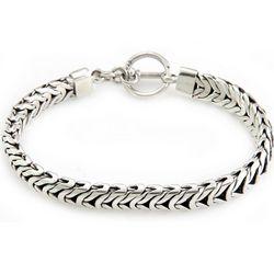 Men's Sterling Silver Braided Flow Bracelet