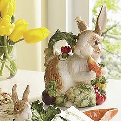 Garden Bunny Ceramic Teapot