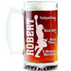 Personalized Sportsaholic Football Beer Mug