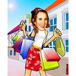 Your Photo in a Shopping Caricature