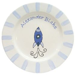 Baby's Personalized Rocket Plate