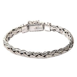 Men's Sterling Silver Wisdom Bracelet