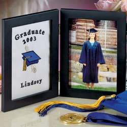 Graduation Frame with Embroidered Insert - 5x7