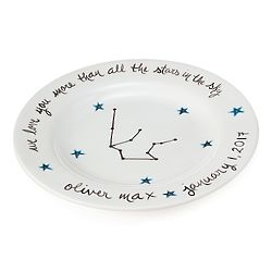 Personalized Celestial Baby Plate