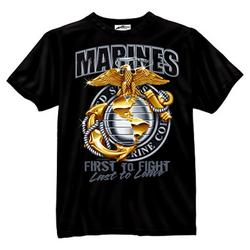 Marines First to Fight Last to Leave T-Shirt