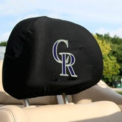 Colorado Rockies Headrest Cover Set