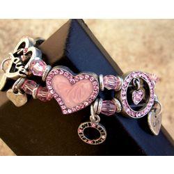 Girl's Heart Charm Bracelet