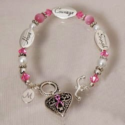 Personalized Breast Cancer Awareness Bracelet