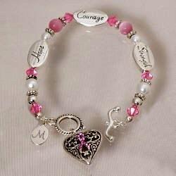 Personalized Breast Cancer Awareness Bracelet