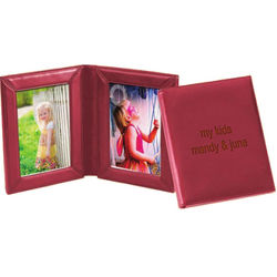 Double Leatherette Picture Frame