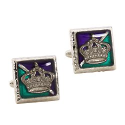 Mardi Gras Crown Cuff Links