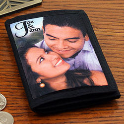 Personalized Photo Mens Trifold Wallet