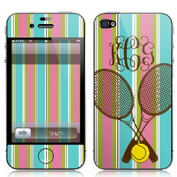 Personalized Tennis Phone, MP3 Player, and Laptop Skin