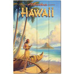 Aloha Hawaii Wood Plank Sign