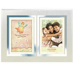 Personalized Angels Double Frame for Aunt