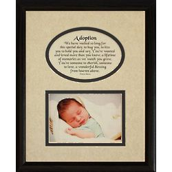 Adoption Picture and Poetry Photo Frame