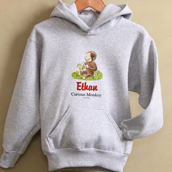 Personalized Kid's Curious George Sweatshirt