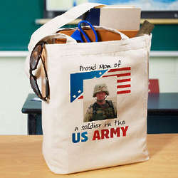 American Pride Personalized Photo Tote Bag