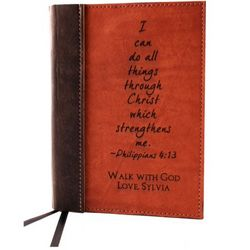 Philippians 4:13 Leather Journal