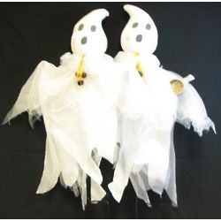 Ghost Couple with Bells Yard Ornament