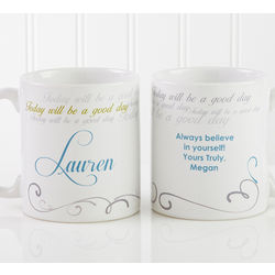 Personalized Cup of Inspiration Small Coffee Mug
