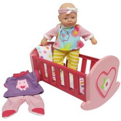 Baby Doll with Crib Toy