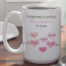 What is Happiness Large Coffee Mug