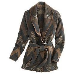 Navajo Wool Wrap Coat
