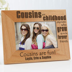 Personalized Cousins 4x6 Picture Frame
