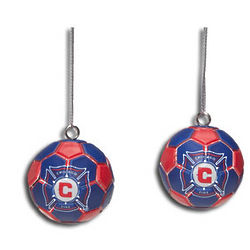 Chicago Fire Image Ball Ornaments