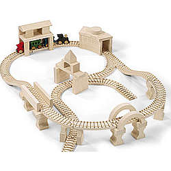 Wooden Metro Plus Toy Train Boxed Set