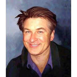 Alec Baldwin Oil Painting Limited Edition Art Print