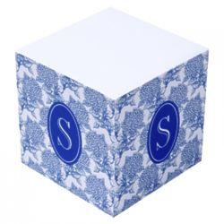 Personalized Halsey Hydrangea Sticky Note Cube