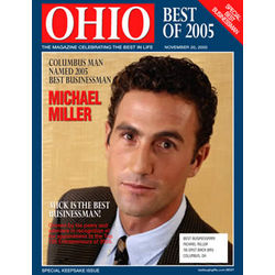 Personalized Best Businessman Magazine Label