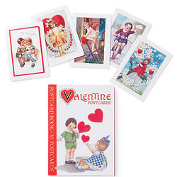 Vintage Valentine Postcard Book