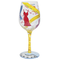 Kind of on a Diet Hand-Painted Wine Glass