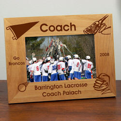 Personalized Lacrosse Frame