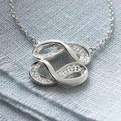 Diamond Double Infinity Necklace