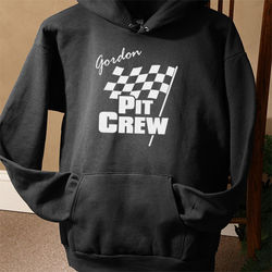 Personalized Pit Crew Hooded Sweatshirt