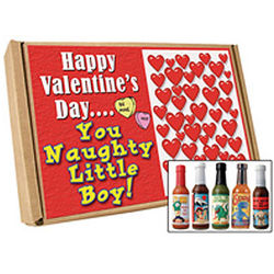 Valentine's Day Naughty Boy Hot Sauce Gift Set
