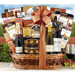 Cabernet, Chardonnay, Moet & Chandon Champagne Gift Basket